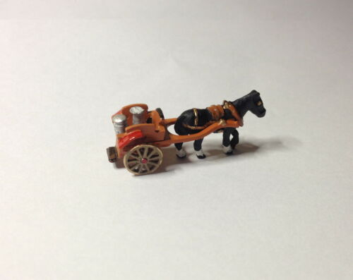 N Gauge metal HAND-PAINTED Single Horse Milk Float Cart (1926-28) - Brand New!