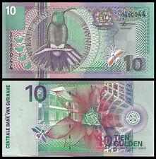 10 P-146 147 148 Pack Fresh UNC 25 Gulden from 2000 Bird Series SURINAME 5