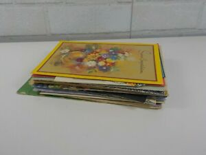 43-total-Mixed-Lot-of-Most-USED-Vintage-Greeting-Cards-most-1950-039-s-1970-039-s