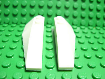 Lego NEW white 2 x 6 wedge pieces spaceship Lot of 2
