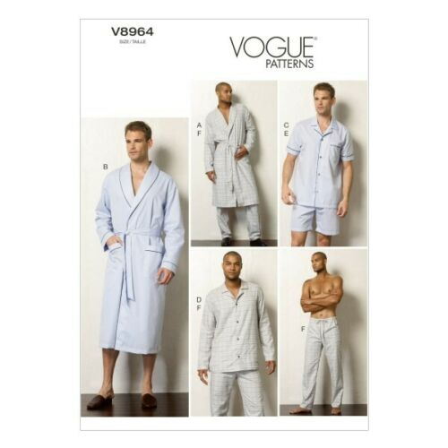 Vogue Sewing Pattern V8964 para hombre Pantalones Bata Top Shorts Y Pijamas