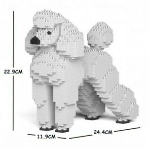 White Nanoblock Poodle Building Kit