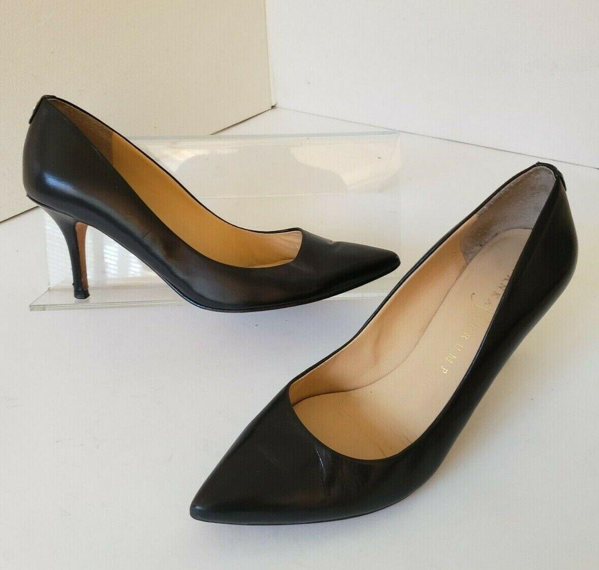 Ivanka Trump Natalie Black Leather Pumps Heels 6.5 M
