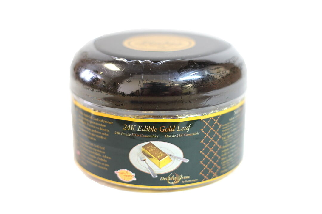DeiAurum  24K Comestible Feuille D'or Des miettes, jar, 0.500 G
