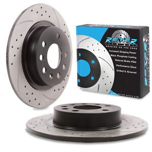 REAR-GROOVED-DRILLED-278mm-BRAKE-DISCS-FOR-VAUXHALL-OPEL-ZAFIRA-1-8-1-9CDTI-2-0