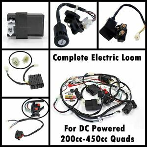 Complete Engine DC Wiring Harness Wiring Loom 200cc 250cc ATV Quad on dc wire motor, dc wire plug, dc wire lights, dc wire gauge, dc wire cable, dc wire connectors, dc wire computer,