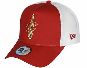 best service b148f 8341a Image is loading New-Era-Team-Essential-Trucker-Cap-Cleveland-Cavaliers