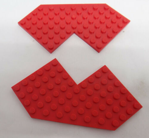 Lego 2 X Plate 10x10 Wing Plate 2401 Red Set 6939 6959...
