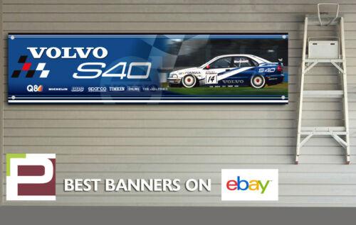 Large Size Volvo S40 Saloon BTTC Banner Workshop Track Garage Man Cave