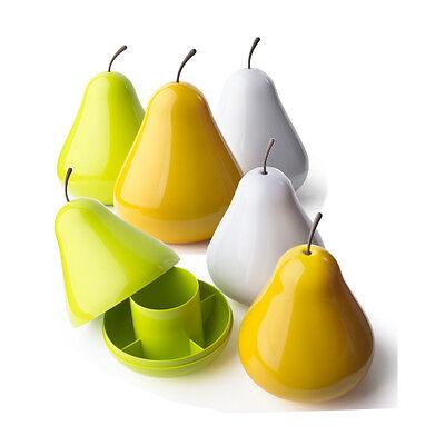 1 Pear Pod Birne in Grün Aufbewahrungs-Schale 2-teilige Dose Qualy Design
