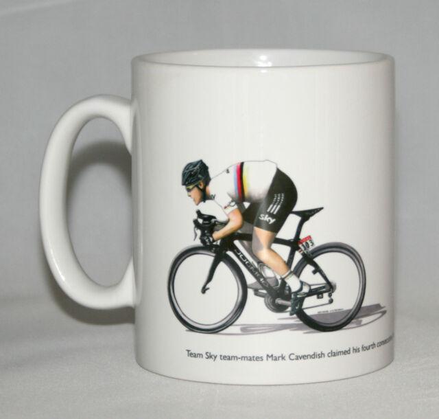 Cycling Mug. Bradley Wiggins and Mark Cavendish, Tour de France 2012