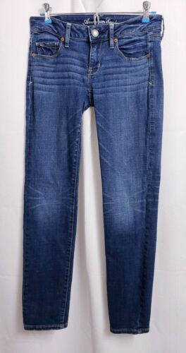 American Eagle Skinny Whiskered Jeans sz 4 Short