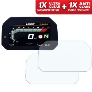 BMW-F750-GS-2018-Connectivity-TFT-Screen-Protector-1-x-Clear-amp-1-x-Anti-Glare