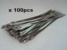 100 x Stainless Steel Metal Cable Ties 200 x 4.6mm Zip Tie Heat Wrap Exhaust