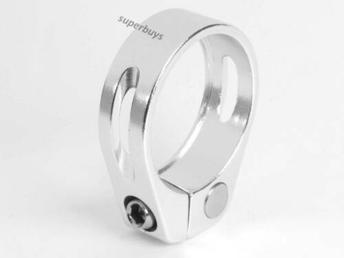 34.9mm Silver Bicycle Seatpost Clamp Bike Adjustable Hex Screw Cycling Light