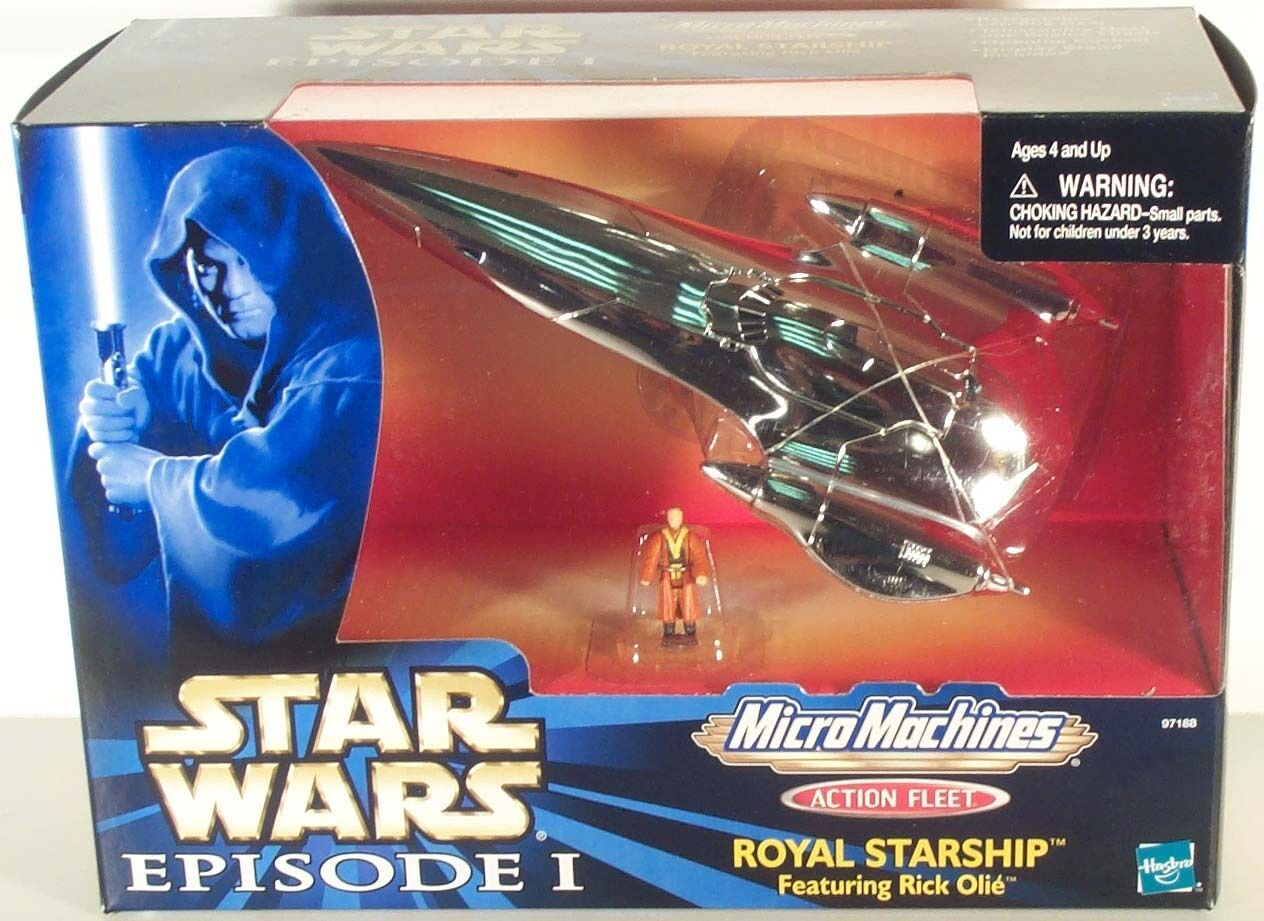 STAR WARS ACTION FLEET AMIDALA'S NABOO ROYAL STARSHIP MIB