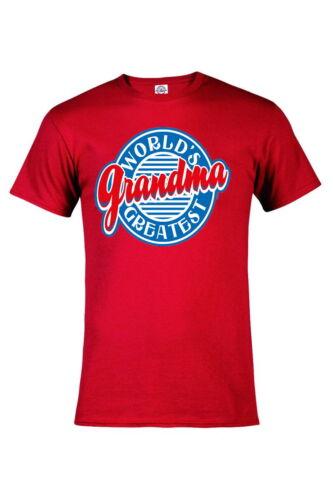 Worlds Greatest Grandma Grandmother gift Graphic tee Funny T-shirt P518
