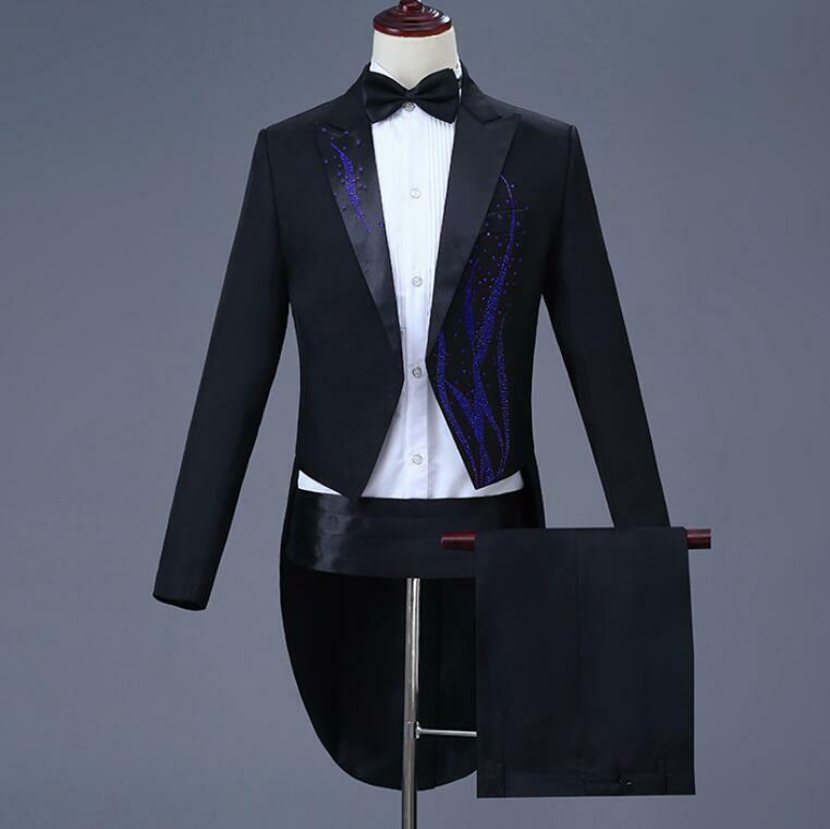 Mens Costume Suits Rhinestone Party  Coat&pants Suits Wedding Dinner 2 Piece Talla  Mercancía de alta calidad y servicio conveniente y honesto.