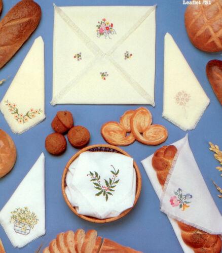 Flowers for Linens Carolina Cross Stitch Elegant Breadcovers XS Pattern
