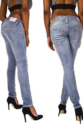 HERRLICHER Damen Skinny Jeans PITCH schwarz Größe W31 L32