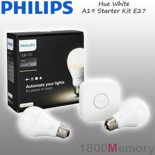Philips Hue Weiß A19 Starter Kit Warm Weiß A60 E27 LED Bulb WiFi ZigBee 240V