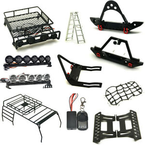 Front-Rear-Bumper-Roof-Luggage-Rack-Net-Winch-For-1-10-RC-Cars-Trx-4-Axial-SCX10