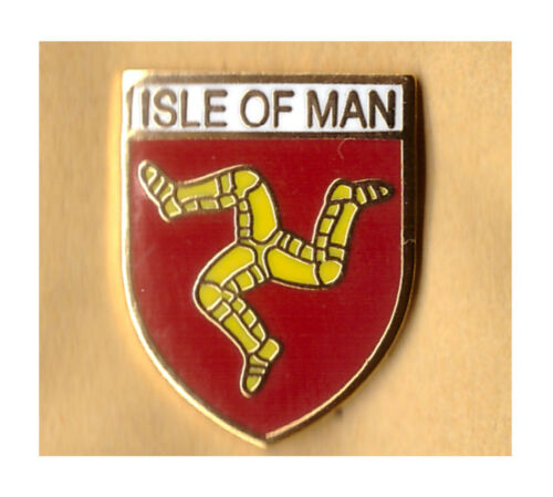 isle of man Enamel lapel badge manx douglas united kingdom O Land of Our Birth