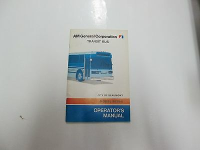 AM General Transit Bus City of Beaumont Model 9635-6 Operators Manual  STAINS OEM | eBay