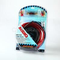 NEW 4 gauge Power  Amplifier / amp Kit 1200 Watt COMPLETE Install Wiring Kit Car