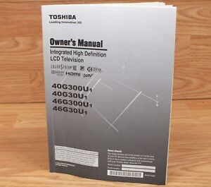 genuine toshiba hda15d46001 owners manual for integrated high def rh ebay com Instruction Manual Book Instruction Manual Example