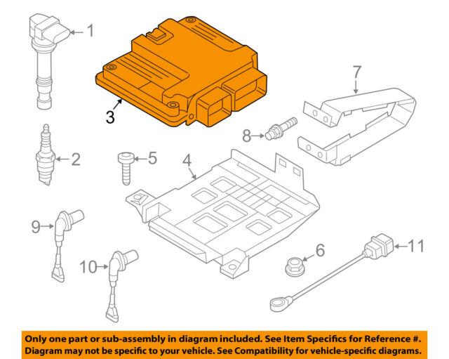 vw volkswagen oem cc-ecm pcm ecu engine control module computer 03h906032hj