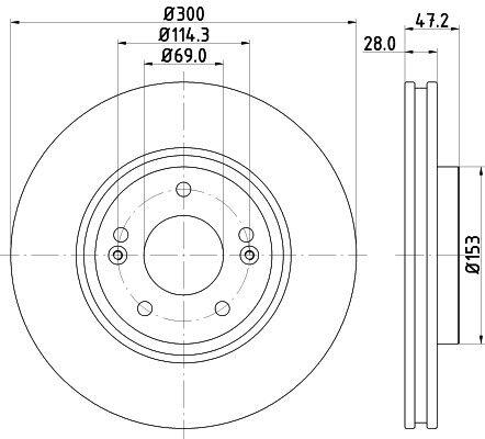 Kia Sportage 1.6 1.7 CRDi 2010-16 Front /& Rear Brake Discs /& Pads Set Unipart
