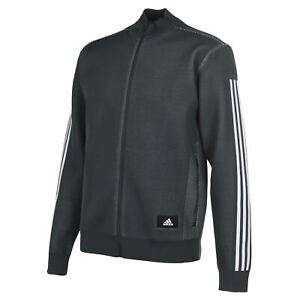 adidas-Mens-ID-Knit-Track-Top-Tracksuit-Jacket-Zip-Full-Stripe-Stretch-Stretchy