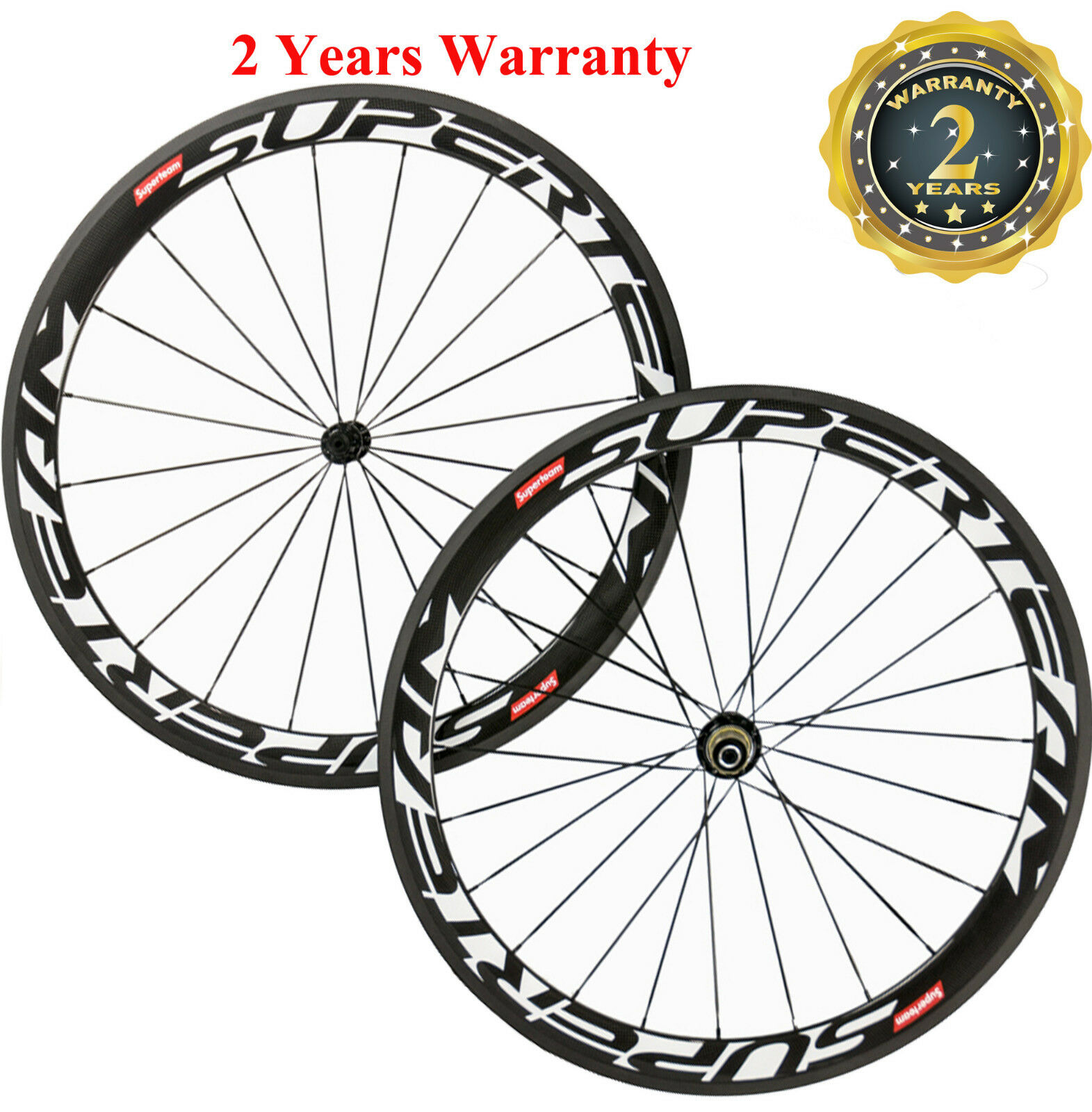 Superteam 700C 50mm Clincher Road  Bike Wheels Carbon Wheelset 3k Matte Shimano  take up to 70% off