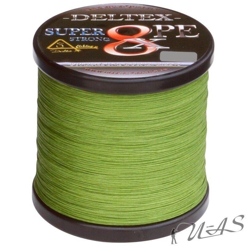 Deltex SUPER STRONG verde 0.15mm 9.10kg 1000m 8 volte intrecciato lenza KVA