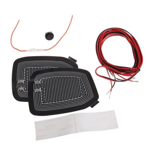 Universal Quick Warm 12V Car Side Mirror Glass Heater Heated Defogger Pad Mat