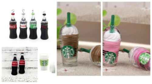 STARBUCKS COKE FLAT BACK RESINS Cabochon FOR HAIR BOWS CUPCAKE TOPPERS SCRAPBOOK