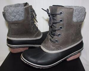 2607d66ff620 Sorel Women s Slimpack II 2 Boots Lace Quarry   Black Grey ...