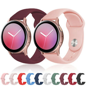 For Samsung Galaxy Watch Active 2 40mm 44mm Soft Silicone Sport Wrist Band Strap