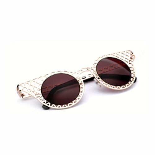 Women/'s Goldtone Extreme Cut-Out Metal Frame Sunglasses 100/% UV400 Protection