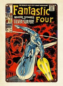 1960s  comics Fantastic Four metal tin sign modern bedroom designs