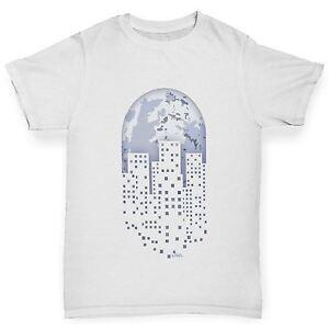 0cadcfea Details about Twisted Envy Boy's Pixel Art Planet Earth T-Shirt