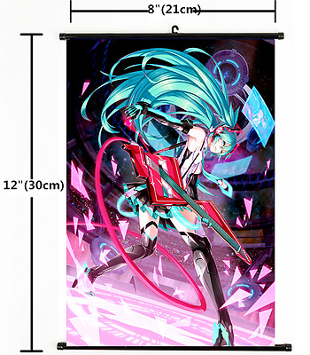 1398 HOT Anime Hatsune Miku Kagamine Wall Poster Scroll Home Decor Cosplay A