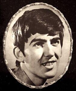 Beatles-1964-Vintage-Pinup-Portrait-George-Harrison-7x9-034-Original-NM-COA