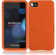 For BlackBerry Z10 Rubber SILICONE Soft Gel Skin Case Phone Cover Orange