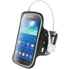 Black Sports Armband for Samsung Galaxy S4 Active I9295 Android Gym Running