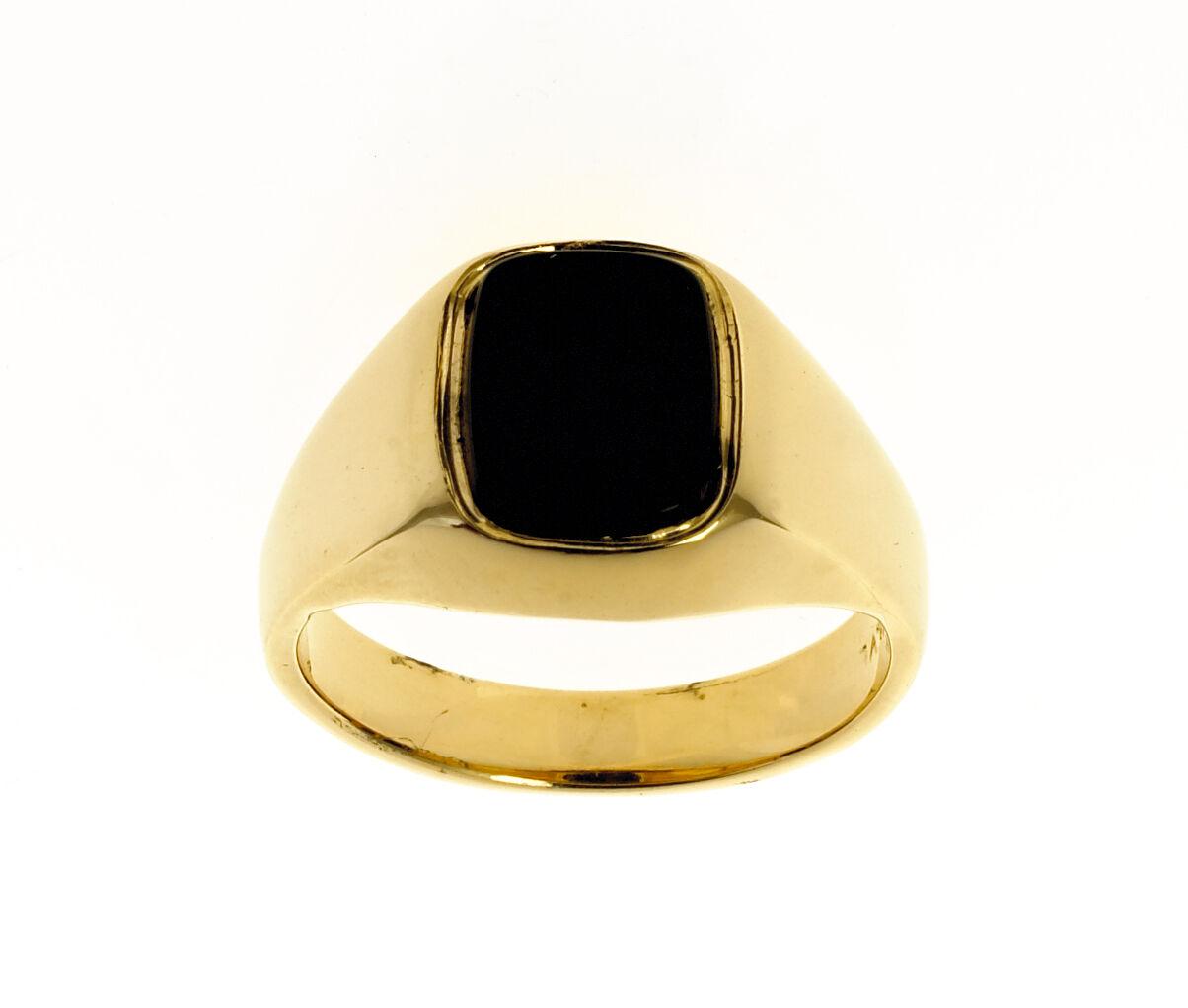 Mens Onyx Ring Gent gold Ring Solid gold Signet Ring Jewellery Quarter B'ham