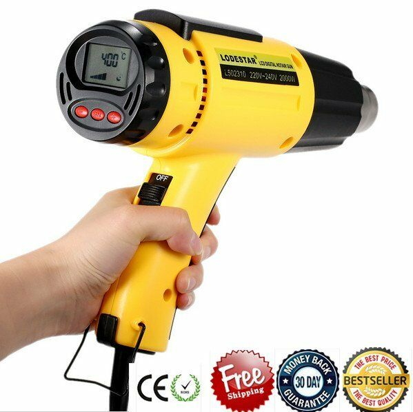 2000W AC220V LCD Electronic Digital Hot Air Gun Electric Heat Gun Power Tool LY