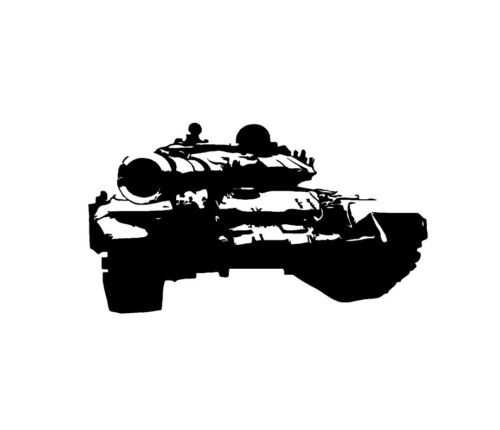Abrams Tank Vinyl Decal Sticker Window Glass Army Marines Military Truck
