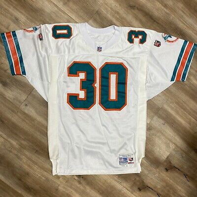 BERNIE PARMALEE MIAMI DOLPHINS VINTAGE 90s RUSSELL PRO CUT NFL JERSEY XL 48
